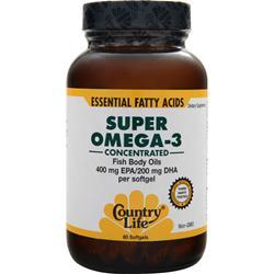 Country Life Super Omega-3 (400mg EPA/200mg DHA) 60 sgels