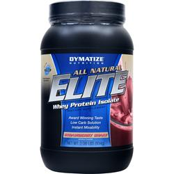 Dymatize Nutrition Elite Whey Protein Isolate - All Natural Strawberry Shake 2.06 lbs