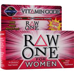 Garden Of Life Vitamin Code - Raw One for Women 75 vcaps