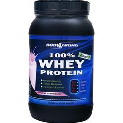 BodyStrong 100% Whey Protein - Natural Strawberry 2 lbs