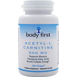 Body First Acetyl-L Carnitine (500mg) 100 vcaps