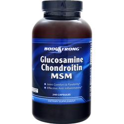 BodyStrong Glucosamine Chondroitin and MSM 240 caps