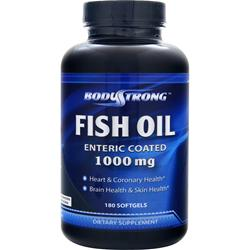 BodyStrong 100% Pure Fish Oil (1000mg) - Enteric Coated 180 sgels