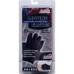 Schiek Sports Lifting Gloves Platinum Series with Wrist Wraps Large 2 glove