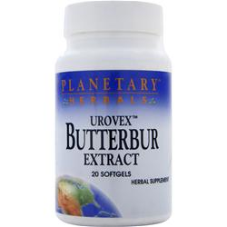 Planetary Formulas Urovex Butterbur Extract 20 sgels