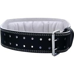 Harbinger 4 Inch Padded Leather Belt Black (Small) 23-29 waist 1 belt