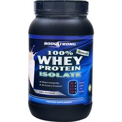 BodyStrong 100% Whey Protein Isolate - Natural Unflavored 2 lbs