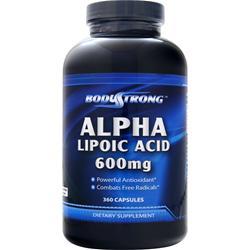 BodyStrong Alpha Lipoic Acid (600mg) 360 caps