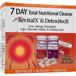 Natural Factors 7 DAY Total Nutritional Cleanse 1 kit