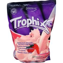 Syntrax Trophix 5.0 - Ultra Sustained Release Protein Strawberry Smoothie 5 lbs