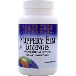 Planetary Formulas Slippery Elm Lozenges (150mg) Unflavored 200 lzngs