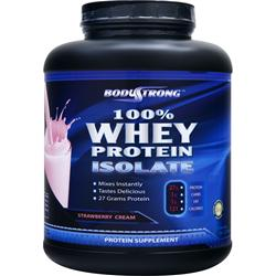 BodyStrong 100% Whey Protein Isolate Strawberry Cream 5 lbs