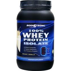 BodyStrong 100% Whey Protein Isolate Creamy Vanilla 2 lbs