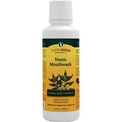 Theraneem Organix Neem Mouthwash Herbal Mint Therape 16 fl.oz