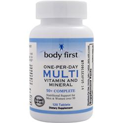 Body First One-Per-Day Multi - Vitamin and Mineral 50+ Complete 120 tabs