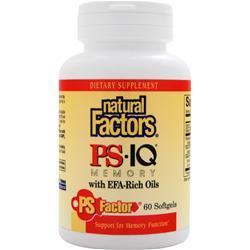 Natural Factors PS IQ Memory with EFA-Rich Oils 60 sgels