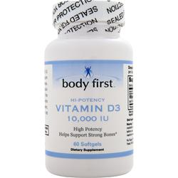 Body First Vitamin D3 - High Potency (10,000IU) 60 sgels