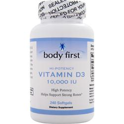 Body First Vitamin D3 - High Potency (10,000IU) 240 sgels