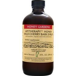 Honey Gardens Apitherapy Honey - Wild Cherry Bark Syrup 8 fl.oz