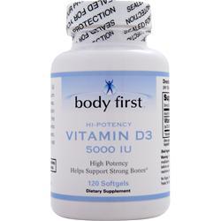Body First Vitamin D3 (5000IU) 120 sgels