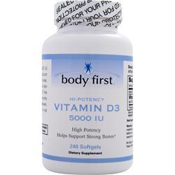 Body First Vitamin D3 (5000IU) 240 sgels