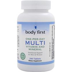 Body First One-Per-Day Multi - Vitamin and Mineral 240 tabs