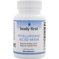 Body First Hyaluronic Acid + MSM 60 caps