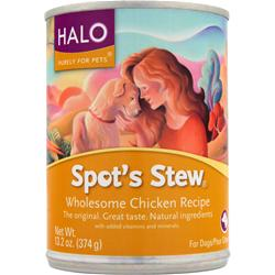Halo Spot's Stew for Dogs Wholesome Chicken Recipe 13.2 oz