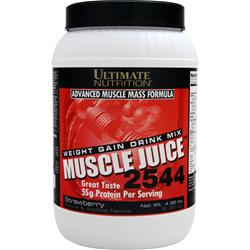 Ultimate Nutrition Muscle Juice 2544 Weight Gain Drink Mix Strawberry 4.96 lbs