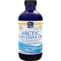 Nordic Naturals Arctic Cod Liver Oil Liquid Lemon 8 fl.oz