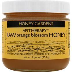 Honey Gardens Apitherapy Raw Orange Blossom Honey 16 oz