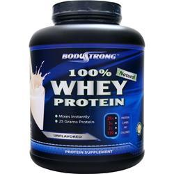 BodyStrong 100% Whey Protein - Natural Unflavored 5 lbs