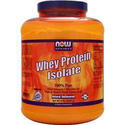Now Whey Protein Isolate Natural Unflavored BEST BY 9/19 5 lbs