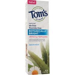 Tom's Of Maine Botanically Bright Whitening Toothpaste Spearmint 4.7 oz