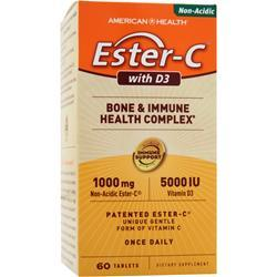 American Health Ester-C with D3 - Bone and Immune Health Complex 60 tabs