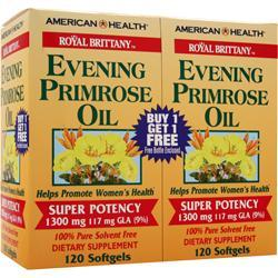 American Health Evening Primrose Oil (1300mg) Twin Pack 120+120 240 sgels