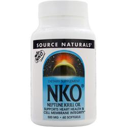 Source Naturals NKO - Neptune Krill Oil (500mg) 60 sgels