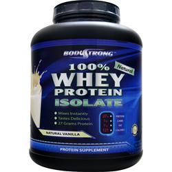 BodyStrong 100% Whey Protein Isolate - Natural Vanilla 5 lbs