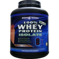 BodyStrong 100% Whey Protein Isolate - Natural Chocolate 5 lbs