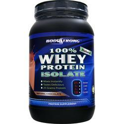 BodyStrong 100% Whey Protein Isolate - Natural Chocolate 2 lbs