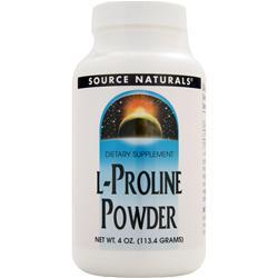 Source Naturals L-Proline Powder 4 oz