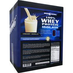BodyStrong 100% Whey Protein Isolate Creamy Vanilla 10 lbs