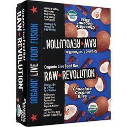 Raw Indulgence Raw Revolution - Organic Live Food Bar Chocolate Coconut Bliss 12 bars