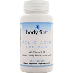 Body First Folic Acid (800mcg) 250 tabs