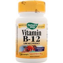 Nature's Way Vitamin B-12 (2000mcg) Cherry 100 lzngs