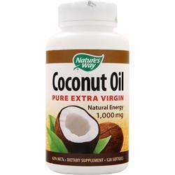 Nature's Way Coconut Oil (1,000mg) - Pure Extra Virgin 120 sgels