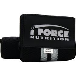 Iforce Wrist Wraps Black w/ Silver Stripe 2 wraps