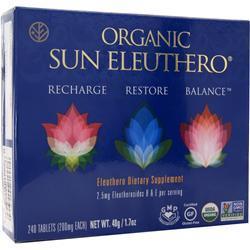 Sun Chlorella Organic Sun Eleuthero 240 tabs