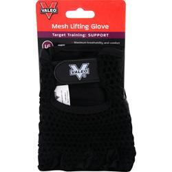 Valeo Mesh Lifting Gloves Black (L) 2 glove