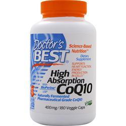 Doctor's Best High Absorption CoQ10 w/ Bioperine (400mg) 180 vcaps